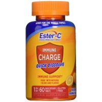 Ester-C Immune Charge Quick Dissolve Tablets, Orange 60 ea [025077591480]