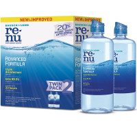 Bausch + Lomb ReNu Advanced Formula, Multi-purpose Contact Lens Solution for Soft Lenses, Twin Pack, 12 oz ea [310119043059]