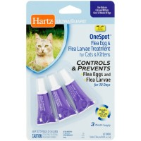 Hartz UltraGuard One Spot Flea Egg Treatment For Cats, 0.03 oz 3 ea [032700019150]