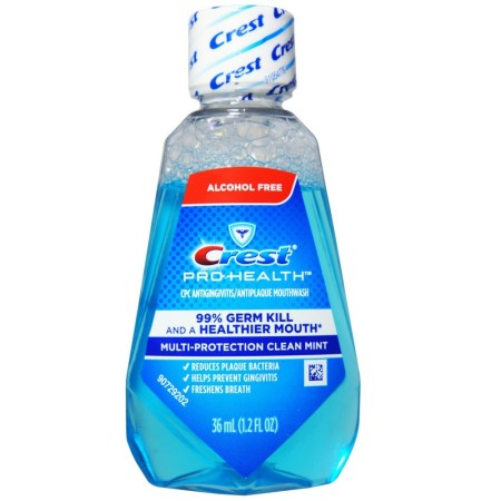 Crest Pro-Health  Mouthwash, Alcohol Free, Multi-Protection Clean Mint 1.2 oz [037000449799]