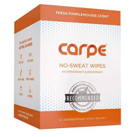 Carpe  Antiperspirant Body Wipes - Dermatologist recommended, non-irritating wipes 15 ct [855769008046]