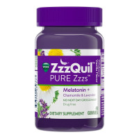 Vicks Pure Zzzs Melatonin Sleep Aid Gummies, Wildberry Vanilla, 48 ea [323900039377]