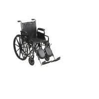 McKesson Standard Wheelchair with Swing Away Footrests - Swing-Away Footrests, 20 Inch Seat, 350 lbs. Capacity - 1 ea  [612479223240]