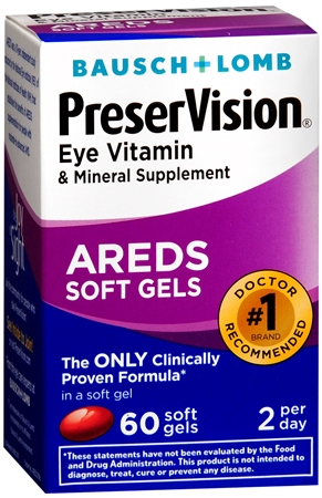 Bausch & Lomb PreserVision Soft Gels 60 Soft Gels [324208532102]