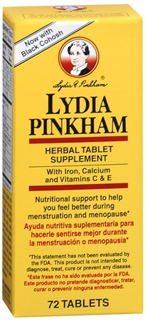 Lydia Pinkham Herbal Tablet Supplement 72 Tablets [038485504072]