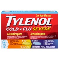 TYLENOL Cold + Flu Severe Day & Night Caplets 24 ea [300450550248]