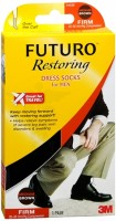 FUTURO Restoring Dress Socks For Men Firm Medium Brown 1 Pair [382250056335]