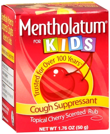 Mentholatum Cherry Chest Rub For Kids 1.76 oz [310742011166]