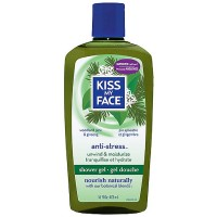 Kiss My Face Anti-Stress Shower Gel, Woodland Pine & Ginseng 16 oz [028367828341]