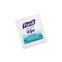 Purell Sanitizing Skin Wipe Individual Packet Alcohol Ethyl Alcohol Scent, 100 ea [073852009866]