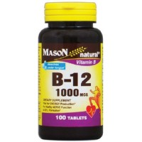 Mason Natural Vitamin B-12 1000mcg, Dissolves Under Tongue Tablets 100 ea [311845096616]