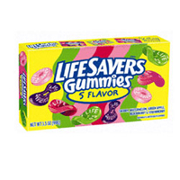 Lifesavers Gummi 5 Flavor Theater Box 12 pack (3.5 oz per pack)  [989802236007]