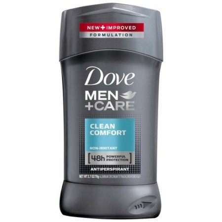 Dove Men+Care Antiperspirant Deodorant Stick Clean Comfort 2.7 oz [079400066718]