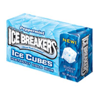 Ice Breakers Peppermint Gum 8 packs (10 ct per pack)   [989803498505]