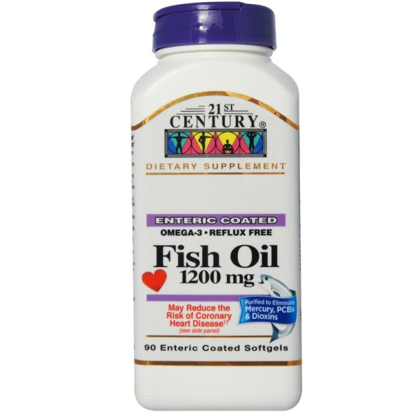 21st century fish oil 1200mg enteric coated softgels 90 for Enteric coated fish oil