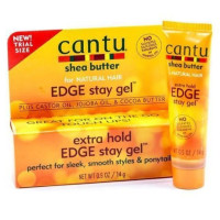 Cantu Shea Butter for Natural Hair Extra Hold Edge Stay Gel 0.5  oz [817513016967]