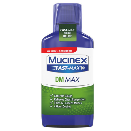 Mucinex Fast-Max DM, Max Strength, Cough Relief Liquid, 6 oz [363824018669]