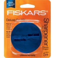 Fiskars Deluxe Double Sharpener, Assorted Colors 1 ea [042054958548]