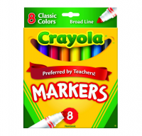 Crayola Classic Markers, Broad Line 8 ea [071662077082]