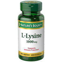 Nature's Bounty L-Lysine 1000 mg Tablets 60 ea [074312060113]