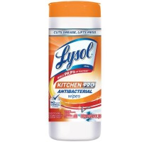 Lysol Kitchen Pro Antibacterial Cleaner Wipes, 30 ct [019200962681]