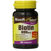 Mason Natural Biotin 800 mcg Tablets 60 ea [311845073655]
