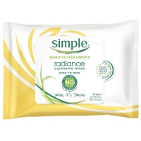 Simple Sensitive Skin Experts Radiance Cleansing Wipes 25 ea [087300278247]