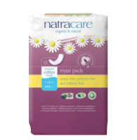 Natracare Maxi Pads Super with Organic Cotton Cover 12 ea [782126003034]