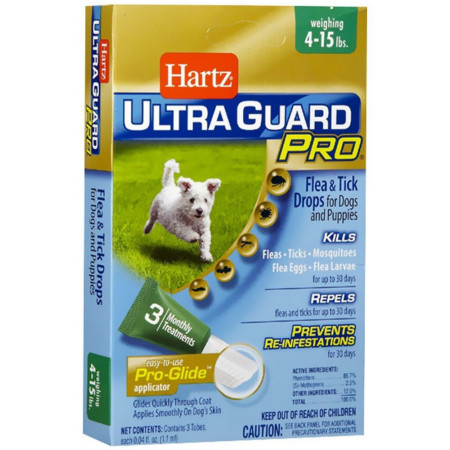 Hartz Mountain Corp. UltraGuard Pro Triple Action Flea & Tick Prevention Drops for Dogs & Puppies 5-14 lbs 1 ea [032700108748]