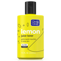 CLEAN & CLEAR Lemon Juice Facial Toner with Lemon Extract & Vitamin C, Alcohol-Free Cleansing Face Toner 7.5  oz [381371182404]