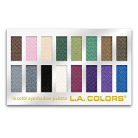 L.A. Colors 16 Color Eyeshadow Palette, Smokin' 1.02 oz [081555742034]