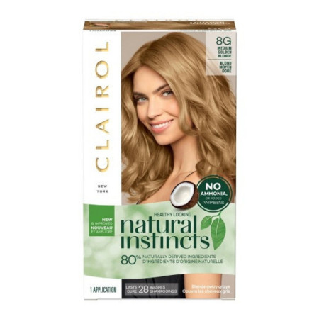 CLAIROL Natural Instincts 8G Medium Golden Blonde 1 Each [3614226794581]