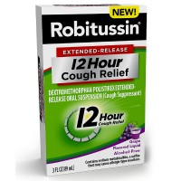 Robitussin Extended-Release 12 Hour Cough Relief, Grape 3 oz [300318753033]