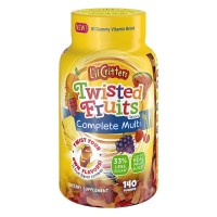 L'il Critters Twisted Fruits Flavors Complete Multivitamin 140 ea [027917023250]