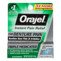 Orajel Instant Pain Relief For Denture Pain, 0.25 oz [310310384050]