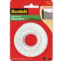 Scotch Permanent Mounting Tape, 1 in x 75 inches 1 ea [021200010538]