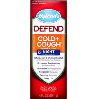 Hyland's DEFEND Cold and Cough Night Syrup 4 oz [354973312340]