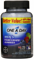 One-A-Day Men's VitaCraves Gummies, 70 Gummies [016500555940]