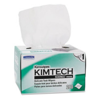 Kimtech Science KimWipes Delicate Task Wipers; 4.4 x 8.4 in. 1-ply 280 ea [036000341553]