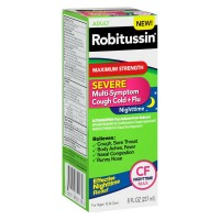 Robitussin Severe Maximum Strength Cough, Cold, & Flu Nighttime Medicine 8 oz [300318752180]