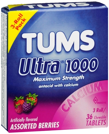 TUMS Ultra 1000 Tablets Assorted Berries 36 Tablets [307660746812]