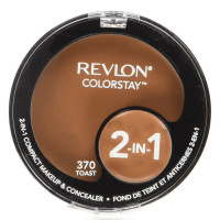 Revlon ColorStay 2-in-1 Compact Makeup & Concealer, [370] Toast, 1 ea [309978009504]