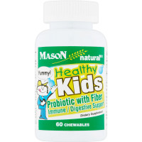 Mason Natural Healthy Kids Probiotic with Fiber Immune/Digestive Support Chewable Tablets 60 ea [311845171153]