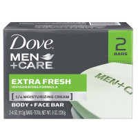 Dove Men+Care Body & Face Bar, Extra Fresh, 2 bars, 4.25 oz ea [011111012158]