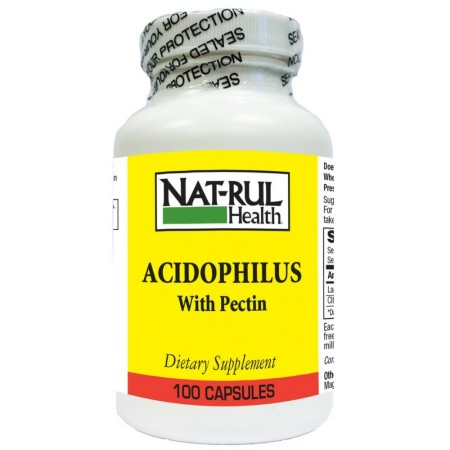 Nat-Rul Acidophilus with Pectin Capsules 100 ea [094604108804]