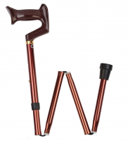 Carex Adjustable Folding Cane, Bronze 1 ea [023601074607]