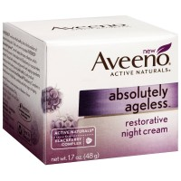 AVEENO Active Naturals Absolutely Ageless Restorative Night Cream, Blackberry 1.7 oz [381371163779]
