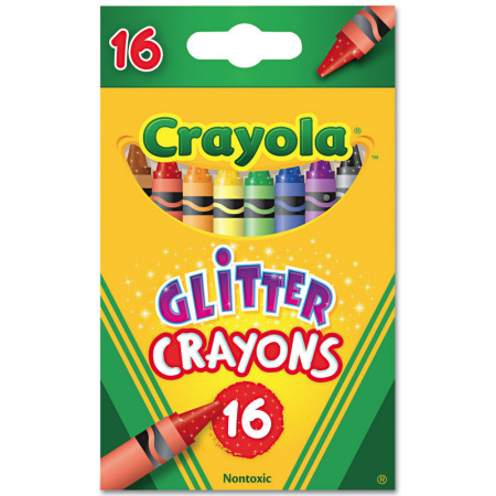 Crayola Glitter Crayons, Assorted Colors 16 ea [071662137168]