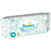 Pampers Sensitive Wipes Convenience Pack 18 ea [037000845706]