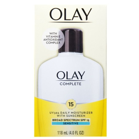 OLAY Complete All Day Moisturizer SPF 15, Sensitive 4 oz [075609000959]